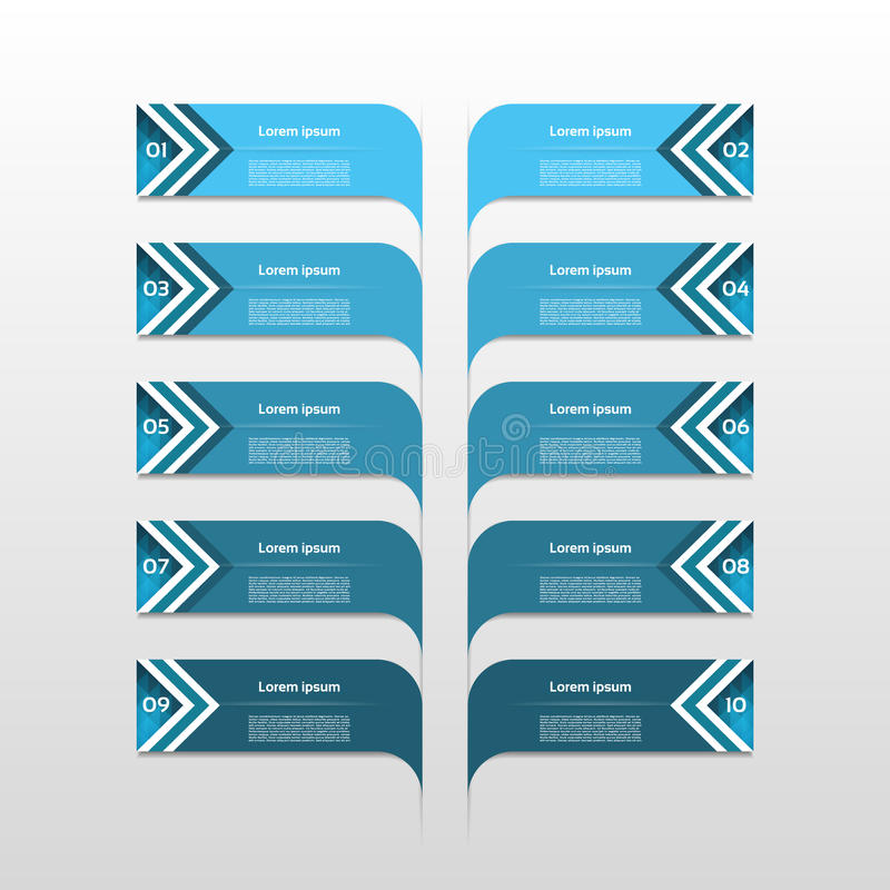 Infographic design template and marketing icons, Business concept with 10 options, parts, steps or processes. Can be used for work stock illustration