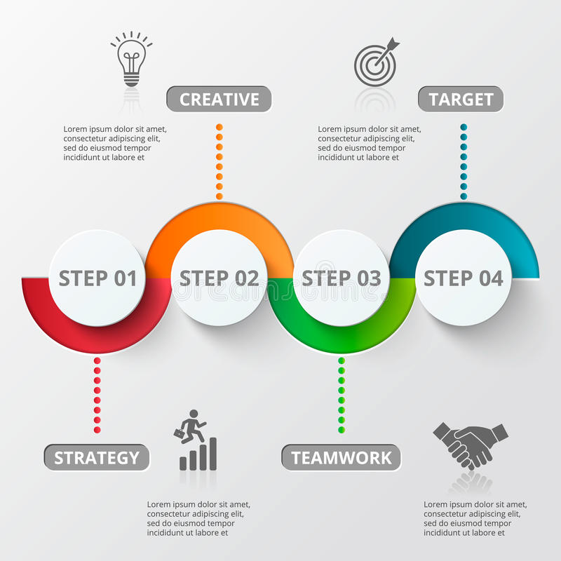 Infographic design template and marketing icons. royalty free illustration