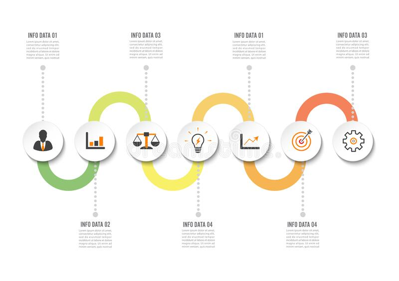Infographic design template and marketing icons. Template for diagram, graph, presentation and round chart. Business concept with stock photos