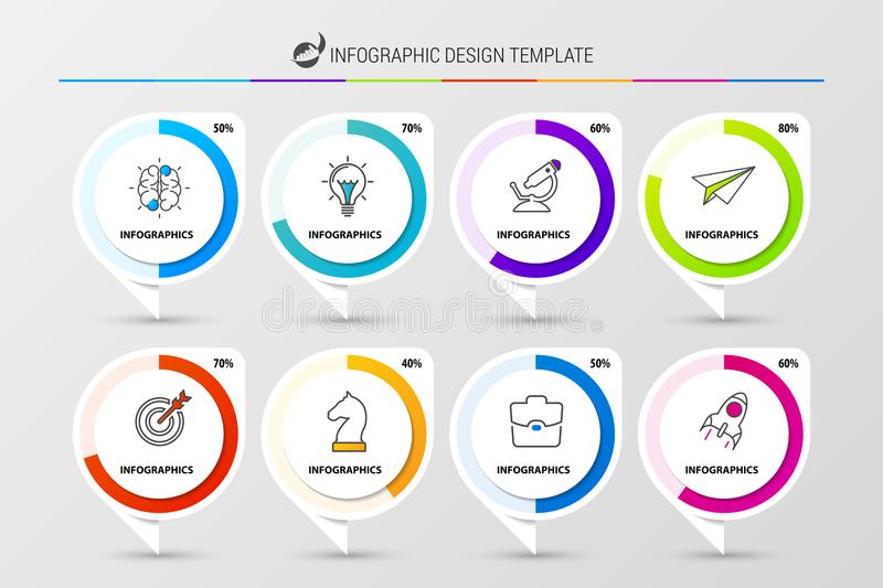 Creative Organization Chart  Infographic Design Template