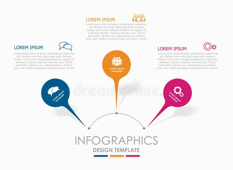 Infographic design template with place for your data. Vector illustration. royalty free illustration