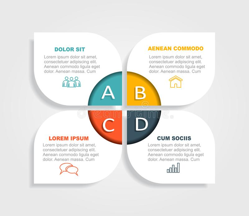 Infographic design template with place for your data. Vector illustration. Infographic design template with place for your text. Vector illustration royalty free illustration