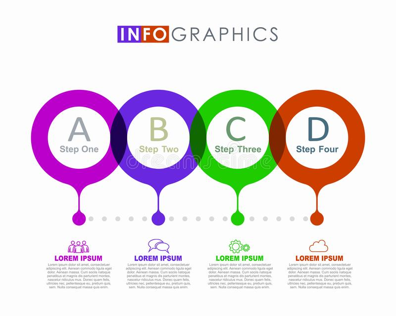 Infographic design template with place for your data. Vector illustration. Infographic design template with place for your text. Vector illustration stock illustration