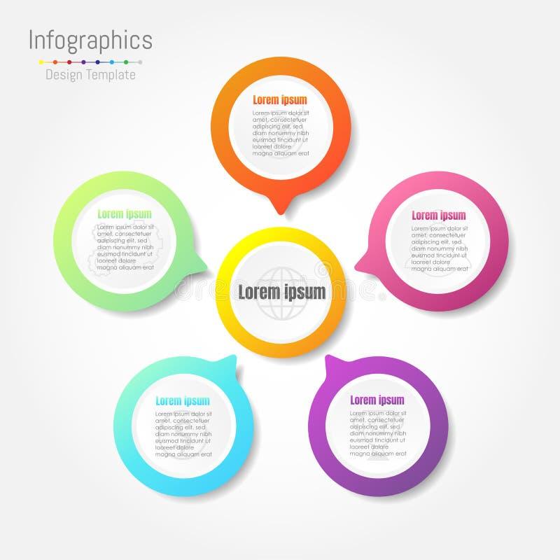 Infographic designbeståndsdelar för din affär stock illustrationer
