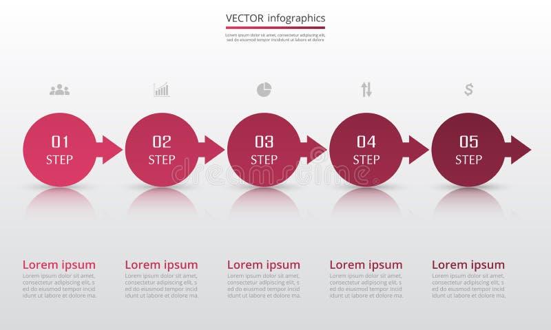 Infographic designbeståndsdelar för din affär vektor illustrationer