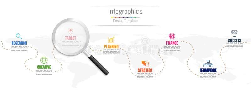 Infographic designbeståndsdelar för dina affärsdata med 8 alternativ royaltyfri illustrationer