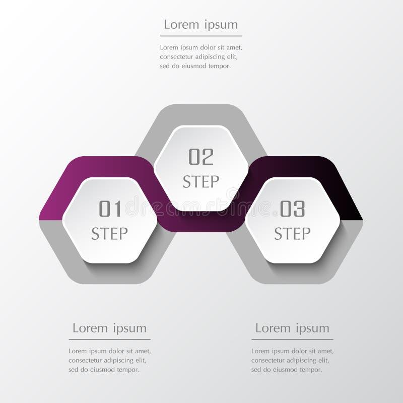Infographic designbest?ndsdelar f?r din aff?r vektor illustrationer