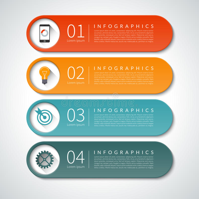 Infographic-Designfahnen eingestellt Es kann für Leistung der Planungsarbeit notwendig sein lizenzfreie abbildung