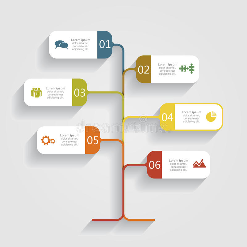 Infographic designmall för baner också vektor för coreldrawillustration stock illustrationer