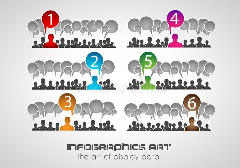 Infographic designmall Ideal som visar information royaltyfri illustrationer