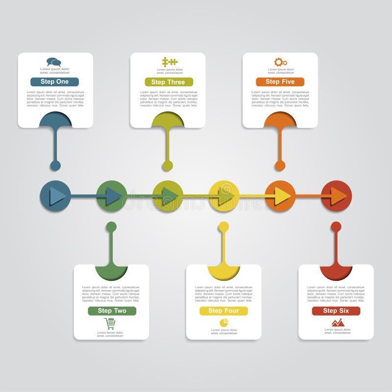 Infographic designmall med beståndsdelar också vektor för coreldrawillustration royaltyfri illustrationer