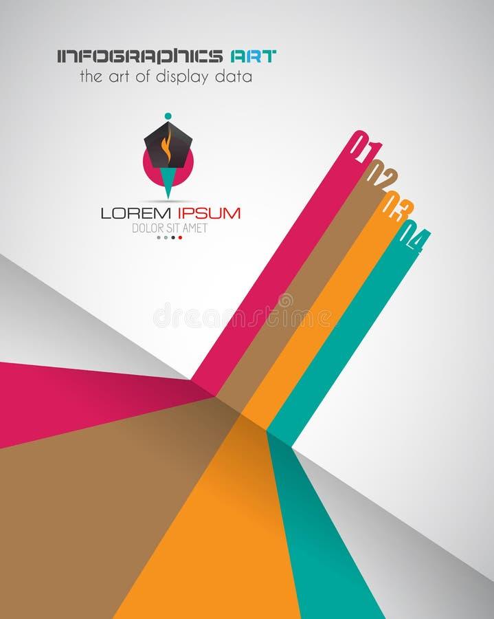 Infographic designmall med modern plan stil stock illustrationer