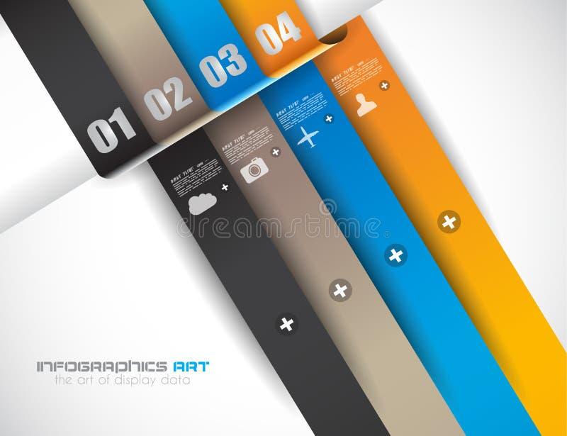 Infographic-Designschablone mit Papiertags vektor abbildung