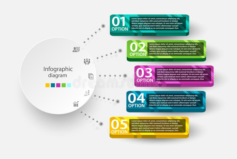 Infographic-Designschablone zum mehrfachen Zweck des Gebrauches stockfotografie