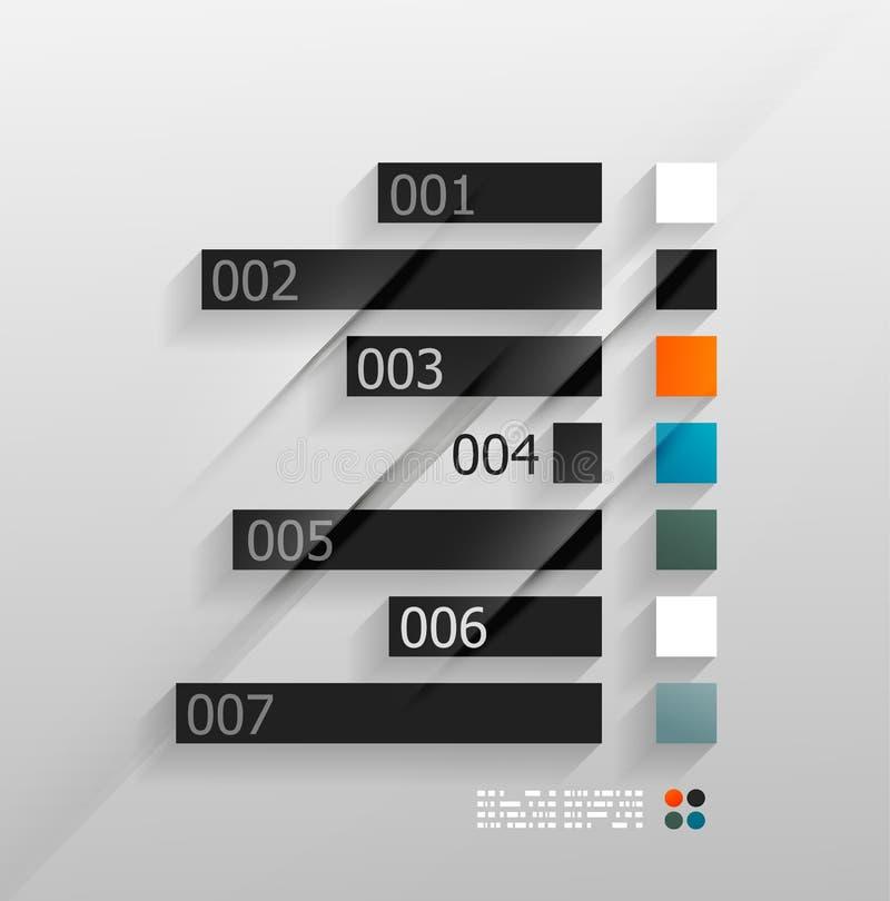 infographic di carta 3d illustrazione vettoriale