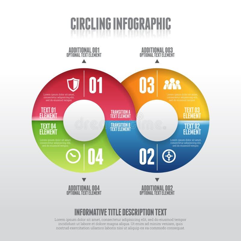 Infographic di circonduzione illustrazione di stock