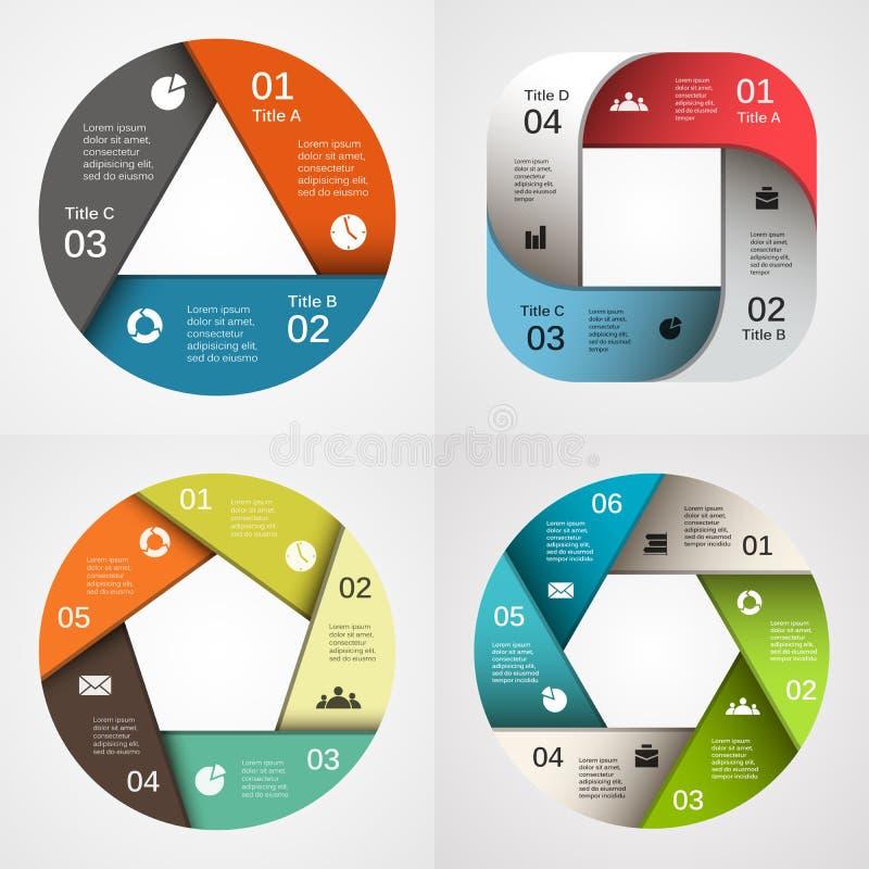 Infographic, diagram, presentatie, grafiekreeks vector illustratie