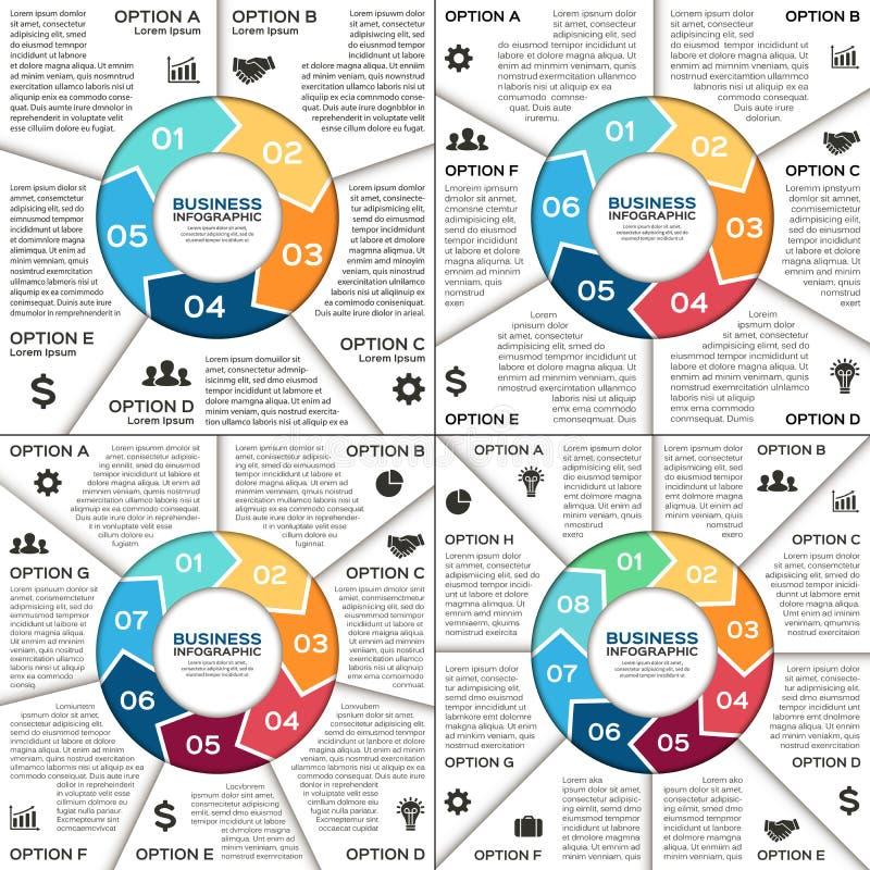 Infographic, diagram, prezentacja, wykresu set royalty ilustracja