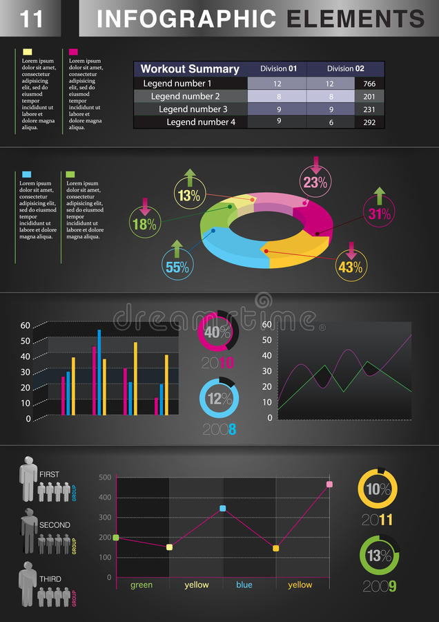 INFOGRAPHIC Diagramm ELEMENT stockbilder