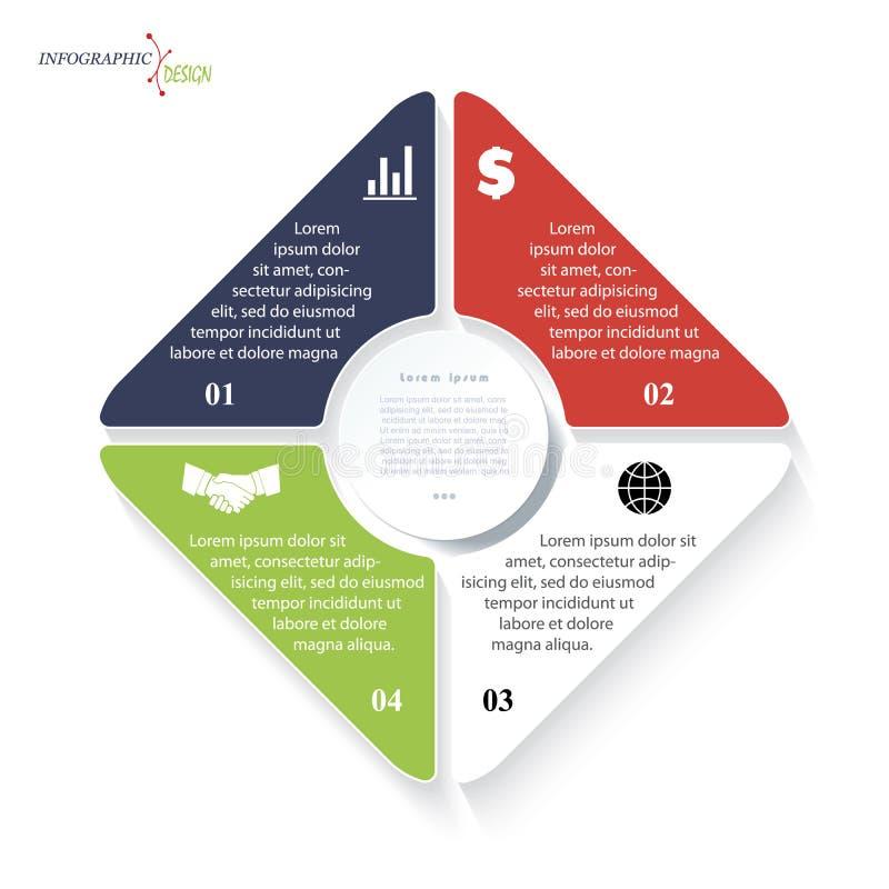 Infographic dla biznesowego projekta lub prezentaci ilustracji