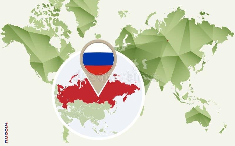 Infographic dla Rosja, wyszczególniająca mapa Rosja z flagą ilustracji