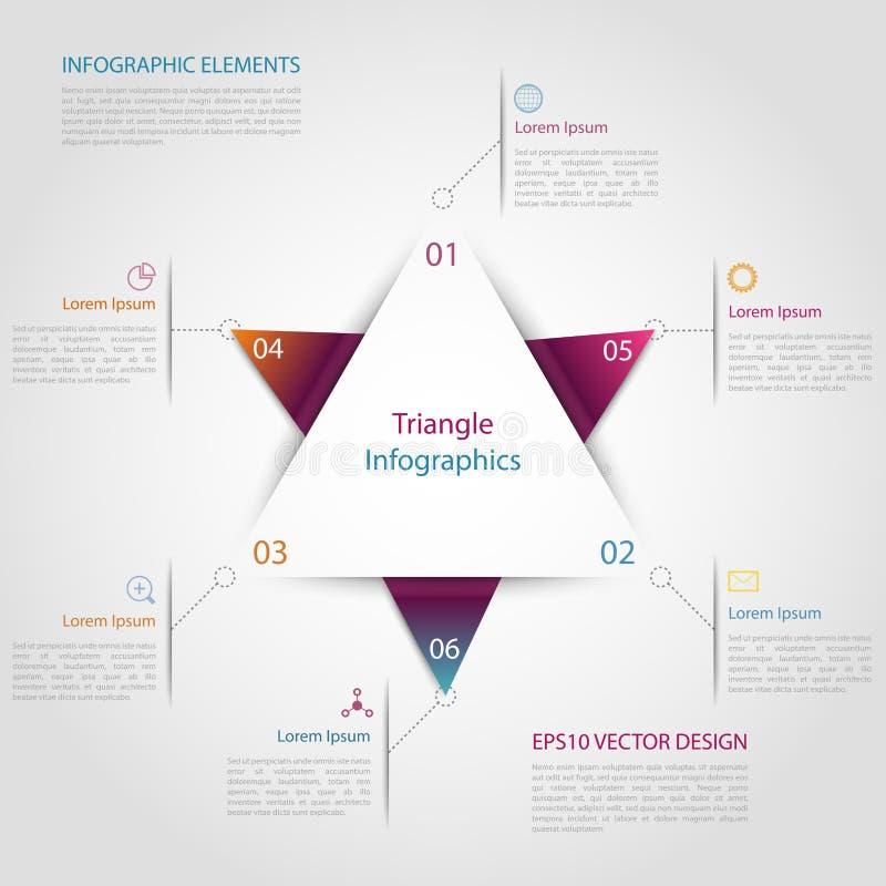 Infographic driehoek vector illustratie