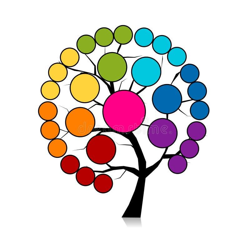 Infographic drzewo dla twój projekta ilustracja wektor