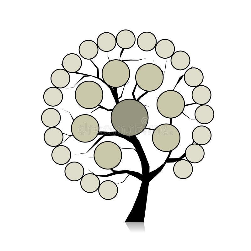 Infographic drzewo dla twój projekta ilustracji