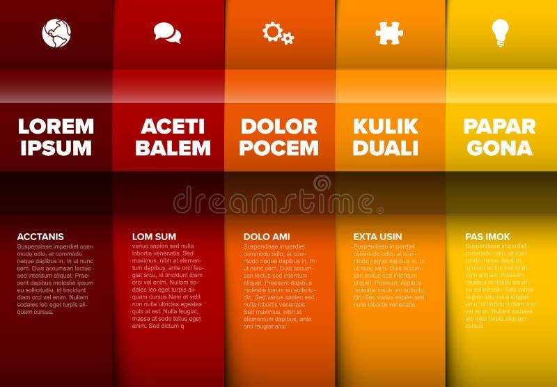 导航多用途Infographic模板 向量例证