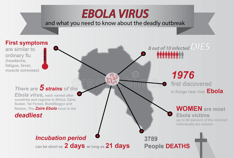 Infographic Ebola vektor illustrationer