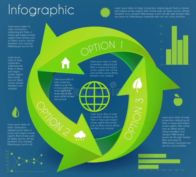 Infographic ecocirkel för pil royaltyfri illustrationer