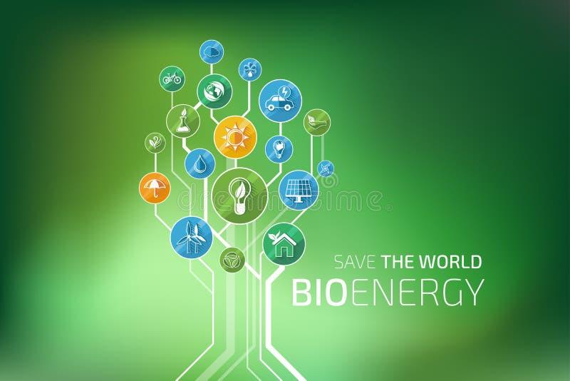 Infographic ecologie Bio Energie royalty-vrije illustratie