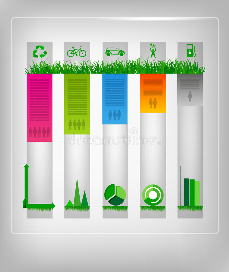 Infographic ecology design royalty free illustration