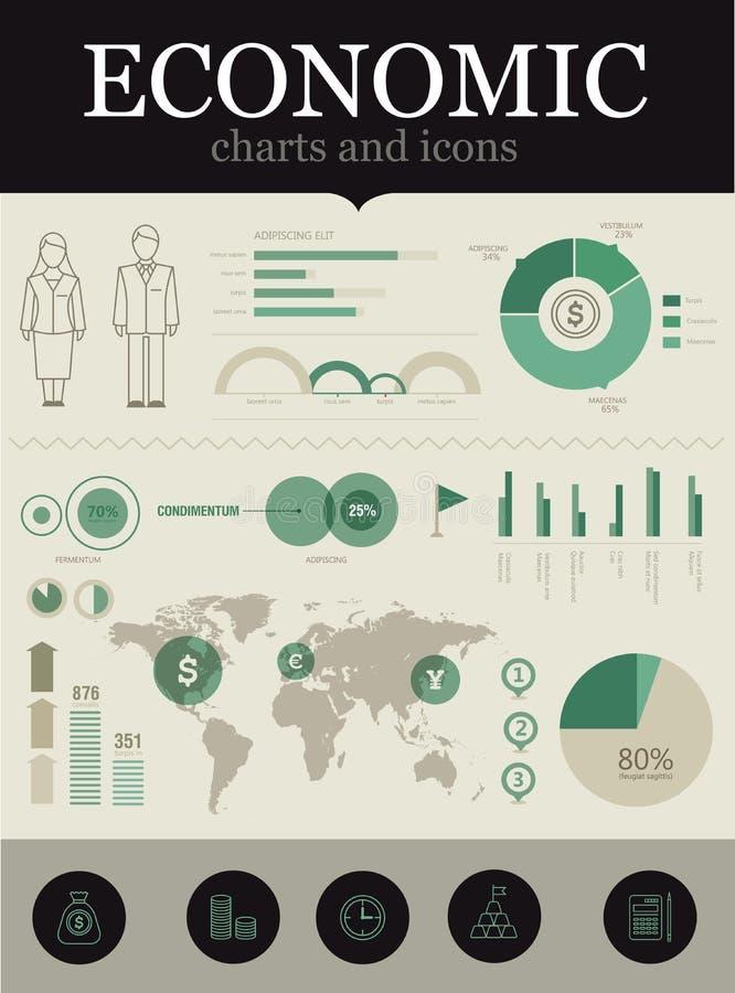 Infographic econômico ilustração do vetor