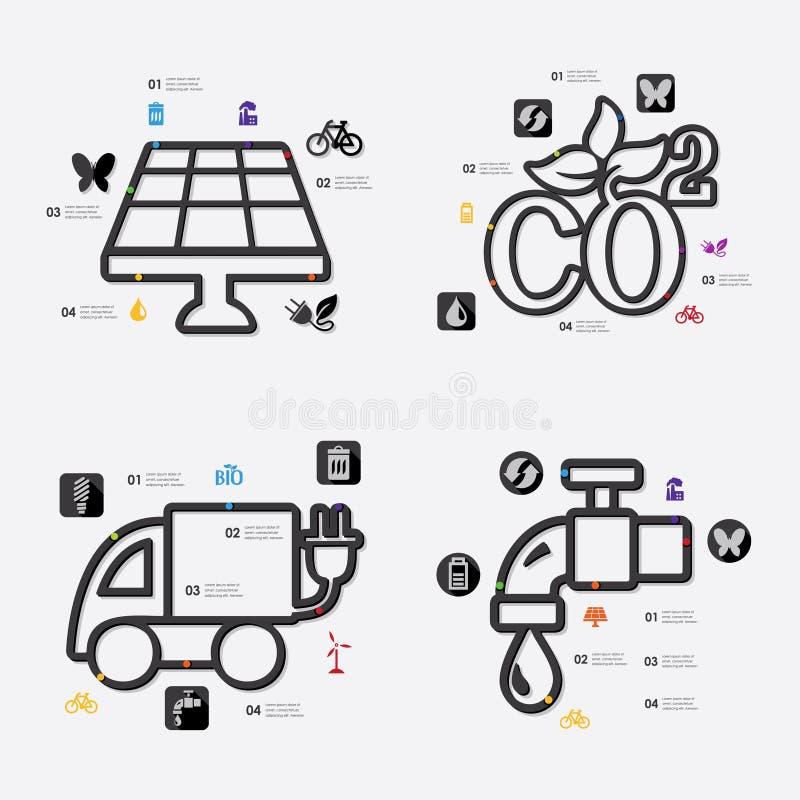 infographic ekologi vektor illustrationer