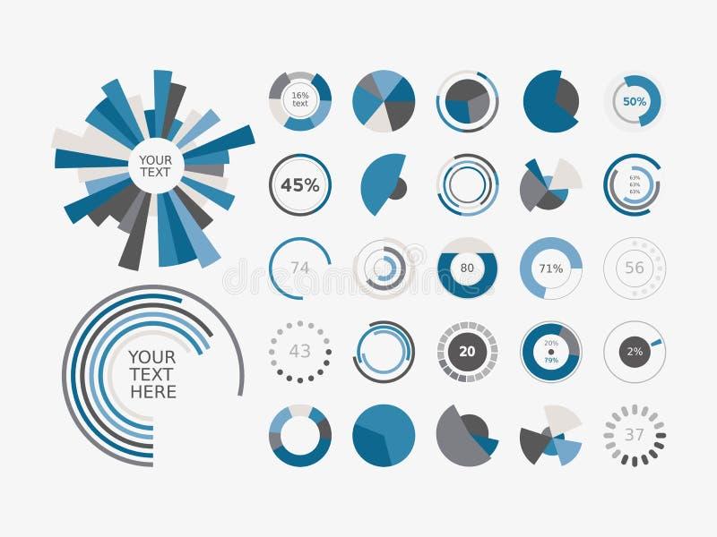 Infographic elementów Pasztetowej mapy ustalona ikona ilustracji