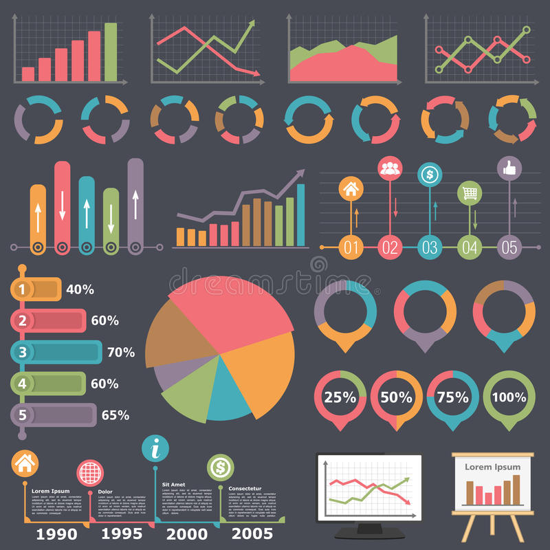 Infographic element för affär stock illustrationer