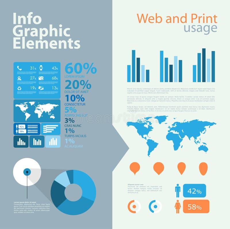 Infographic element för highqualityaffär royaltyfri illustrationer