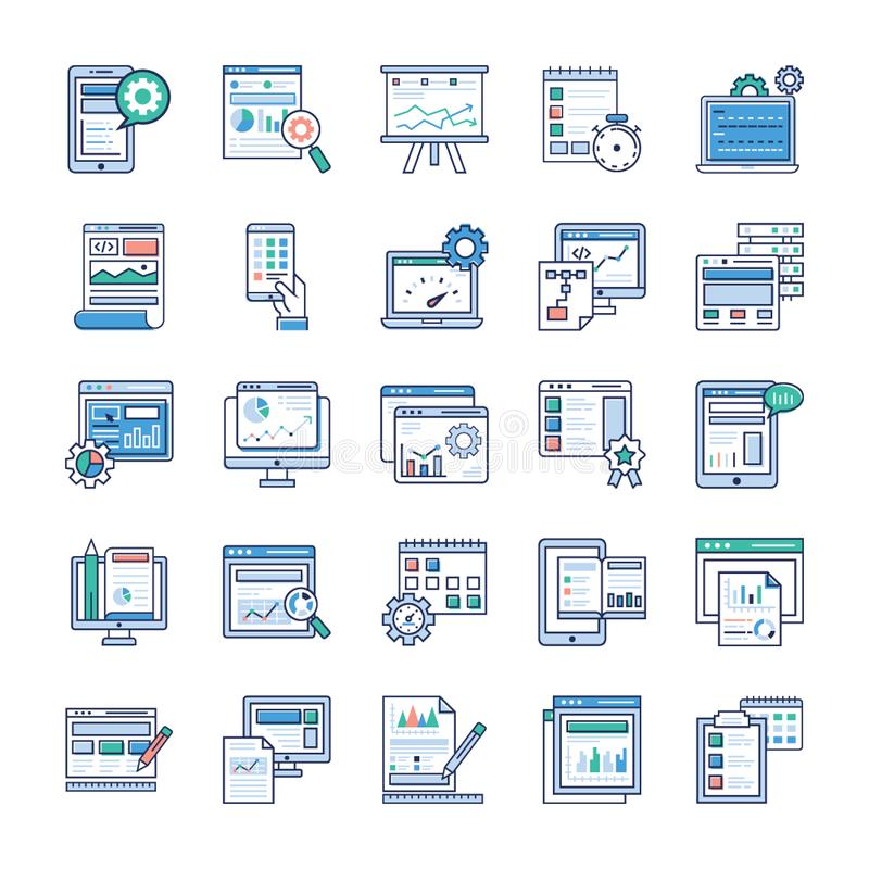 Infographic-Element-flacher Vektor-Satz stock abbildung