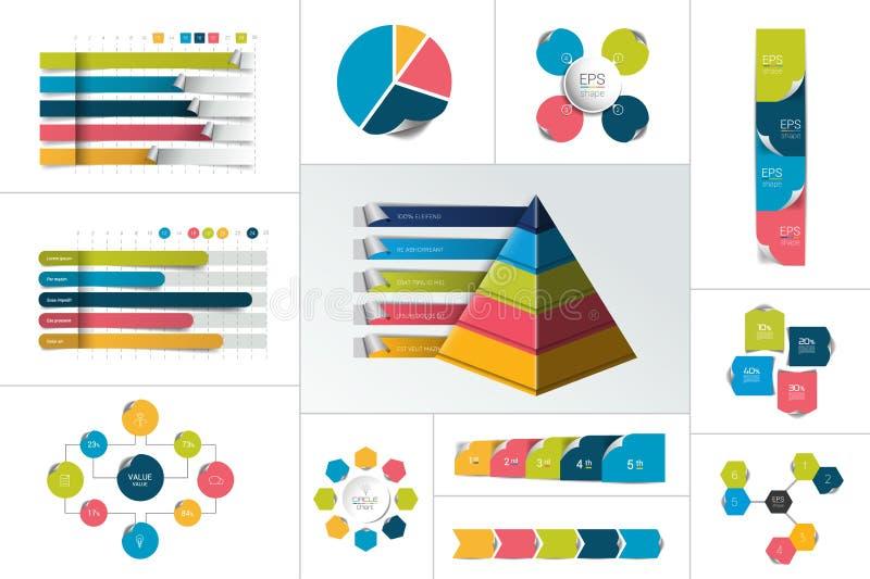 Infographic Element Großes Set Vektor vektor abbildung