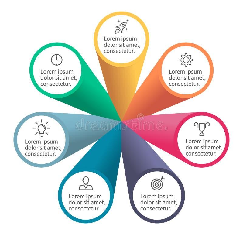Infographic-Element mit den Blumenblättern stock abbildung