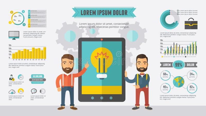 infographic element technologia ilustracja wektor