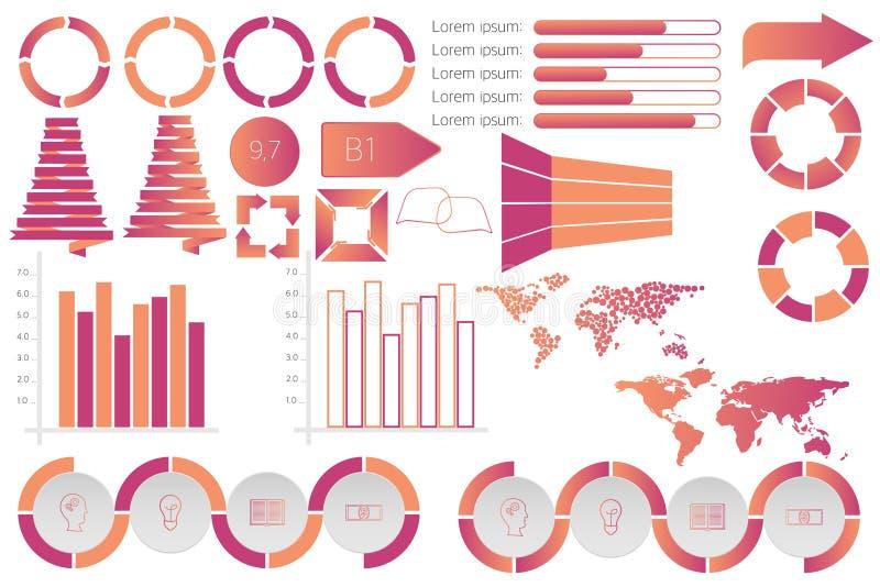 Infographic-Elementdatensichtbarmachungsvektor-Designschablone vektor abbildung