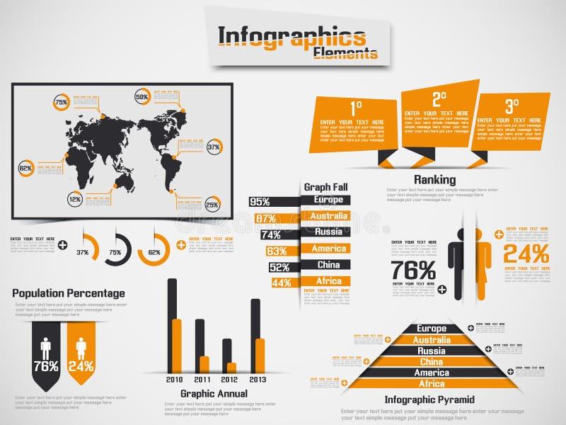 Infographic-Elementdiagramm und -graphik lizenzfreie abbildung