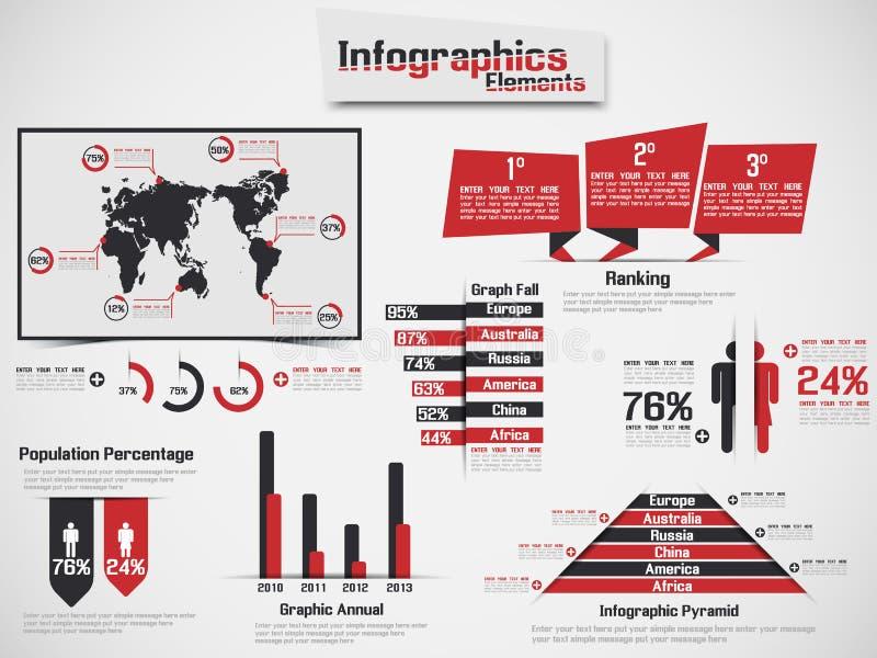 Infographic-Elementdiagramm und -graphik stock abbildung