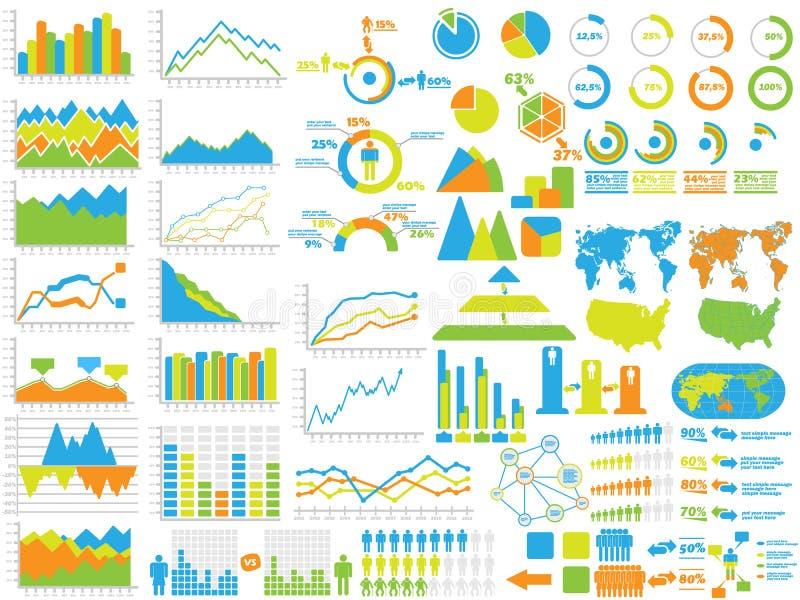 Infographic-Elementdiagramm und -graphik vektor abbildung