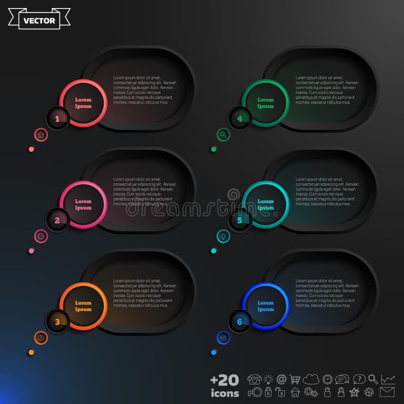 Infographic Elemente der Vektorsprache-Blase lizenzfreie abbildung