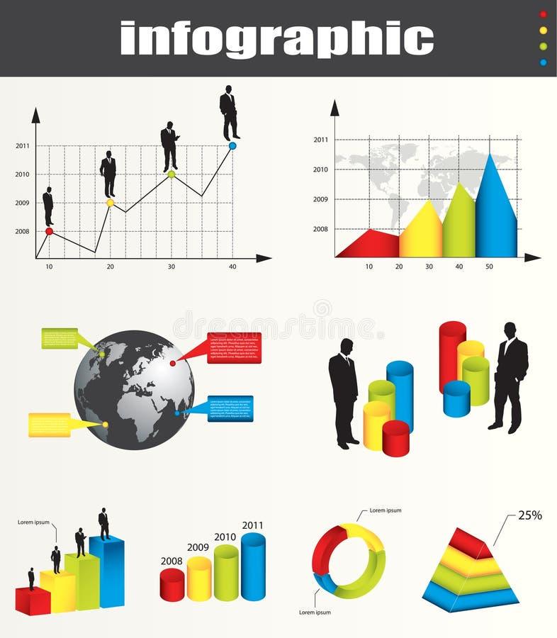 infographic elementgrafer royaltyfri illustrationer