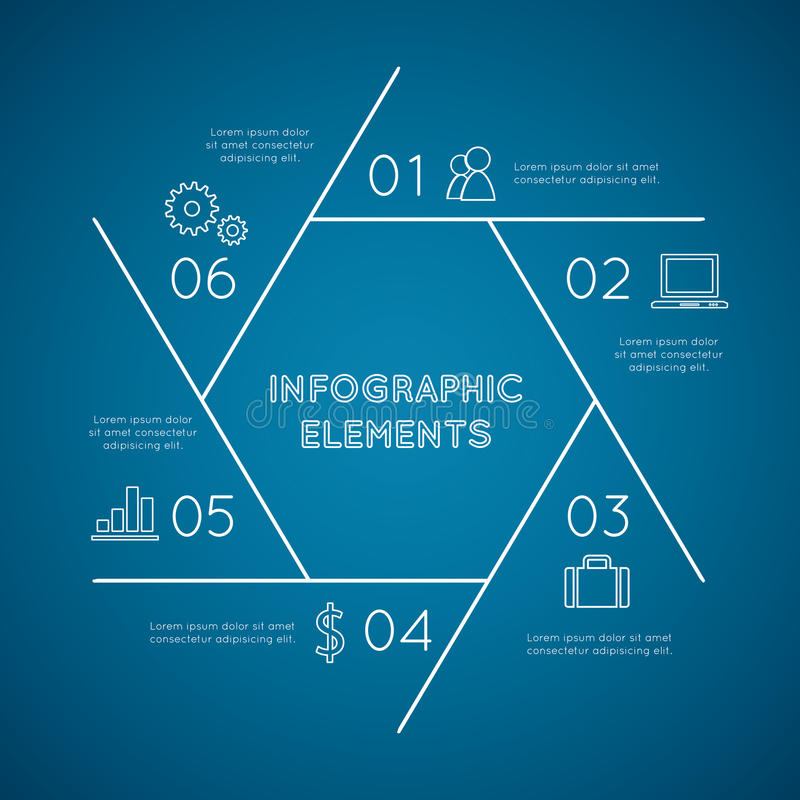 Infographic-Elementpentagon stock abbildung