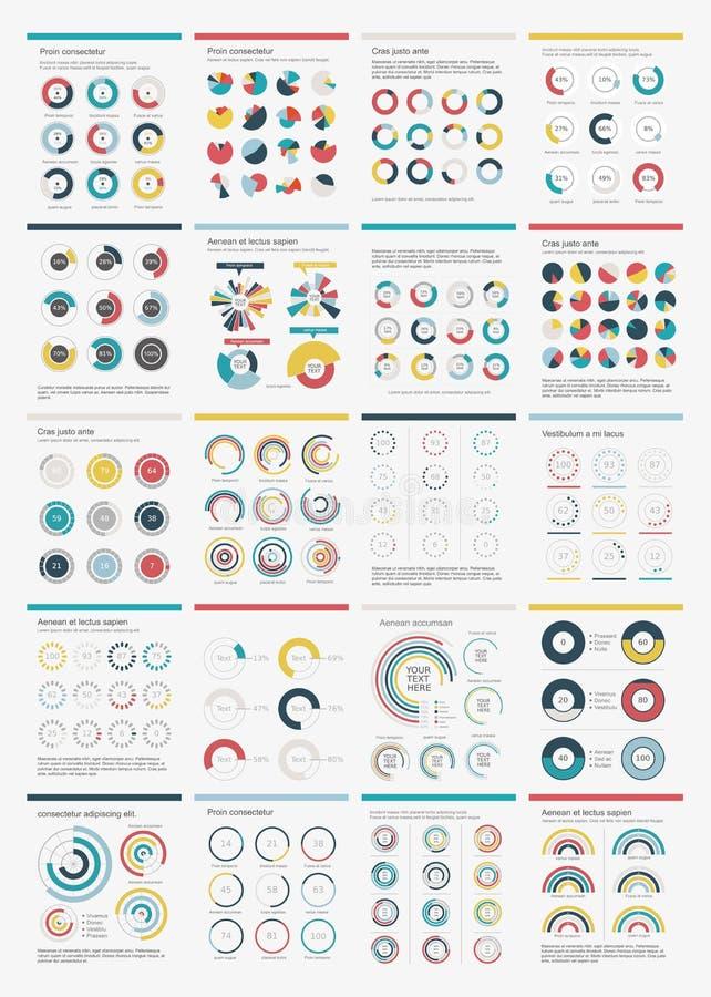 Infographic Elements.Big Chart Set Icon. Stock Photo